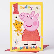1st birthday card peppa pig only 99p