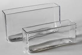 Tall Rectangular Glass Vase Botanico Ltd Catalogue Glass Rectangle Glass Vase