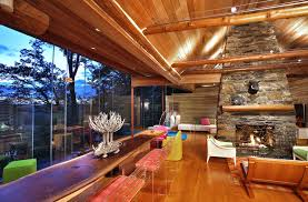 contemporary log cabin houzz