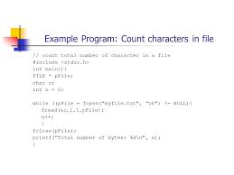 Count Characters In Access Cs1061 C Programming Lecture 19 Random Access Files A O Riordan