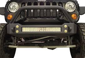 led light bar jeep wrangler jk bumper and led light combo bull bar