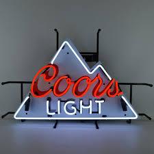coors light bar sign light mountain neon sign