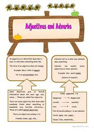 22 free esl adverb and adjective worksheets