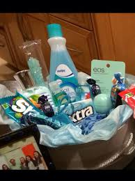 theme gifts colored themed basket for a birthday can add a candle perfume