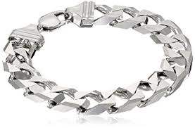bracelet silver mens images Men 39 s sterling silver italian 12 00 mm solid curb link jpg
