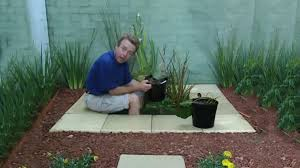 how to build a small garden pond youtube