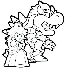 Coloriages Mario Gratuit Peach Princess Peach Coloring Bros