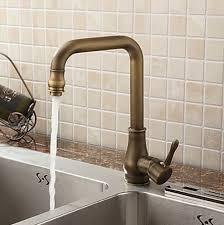robinet cuisine cuivre poignée fini laiton antique unique pivotant robinet de cuisine