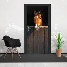 stable horse door wallpaper mural 3 piece door mural 95cm x 210cm brown stable horse door wallpaper mural 3 piece door mural 95cm x 210cm