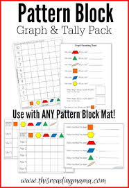 pattern block graph and tally pack this reading