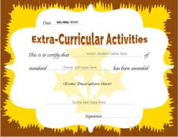 extracurricular activities award certificates professional
