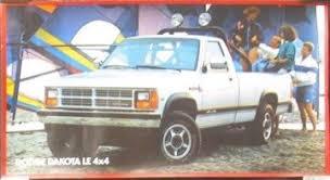1987 dodge dakota 4x4 u s auto dodge 1987 dodge dakota le 4x4 showroom poster