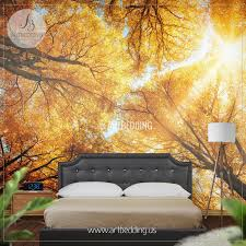 wall mural autumn treetop self adhesive photo mural artbedding