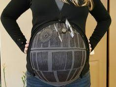 Halloween Costumes Death Death Star Body Paint Cosplay Pregnant