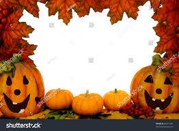 halloween frame halloween border over white leaf frame stock photo 86771392