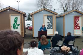 georgetown tiny house village ceremony low income housing institute