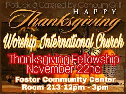 thanksgiving fellowship prayer worship international church
