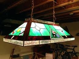 pool table light fixtures stain glass pool table light lesgavroches co