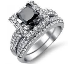 black wedding sets new black diamond engagement wedding ring sets with 05ct black