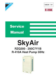 daikin sky air rzq200 250c7y1b service manual electrical
