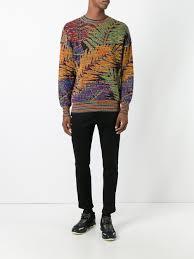 missoni vintage palm intarsia knit jumper men u0026 archive missoni