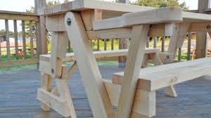 Picnic Table With Benches Plans This All In One Picnic Table And Bench Is Diy At It U0027s Finest Diy Joy