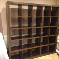 large ikea expedit shelving unit now called kallax in walnut