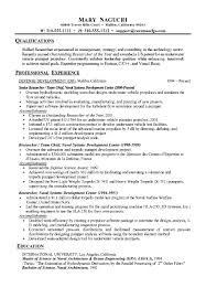 Project Resume Example by Research Resume Example