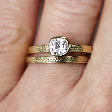 moissanite wedding sets moissanite wedding set braided gold bands stephaniemaslowjewelry