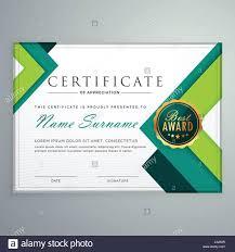 modern geometric shape certificate design template stock vector