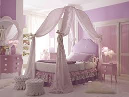 Purple Themed Bedroom - how to make girls canopy bed in princess theme midcityeast