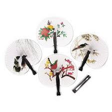 buy paper fans in bulk 5 pcs set elegant paper hand fan folding wedding party favor