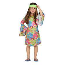 foto hippie figli dei fiori costume hippie vestito bambina 5 6 anni figli dei fiori