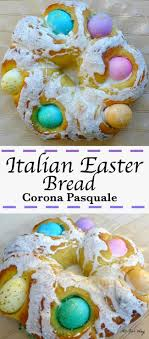 easter sweet italian easter bread with eggs