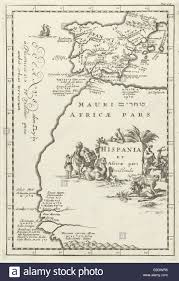 Map Of Spain And Africa by Map Of Spain And Part Of North Africa Jan Luyken Cornelis Stock