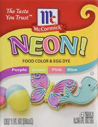 amazon com neon purple green pink blue 4 pack food color