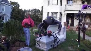 halloween decorations giant spider themed front yard youtube