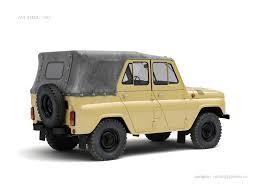 uaz jeep artstation uaz 469b nail khusnutdinov