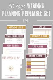 printable wedding planner 30 page wedding planning printable set wedding planning bacon