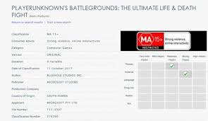 pubg rating pubg rated in australia pointing to xbox one release soon