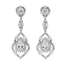 bridal drop earrings earrings swarovski chandelier wedding earrings