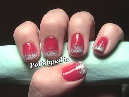 christmas nail designs ombre christmas nail art polishpedia