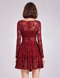 alisa pan lady 3 suit burgundy lace dress long sleeve sheer