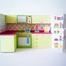 printable kitchen set pdf paper craft zoom