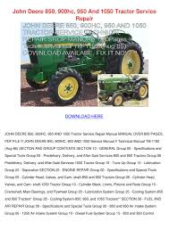 john deere 850 900hc 950 and 1050 tractor ser by marionklein issuu
