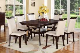 poundex f2290 7 piece espresso dining table set