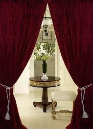 Burgundy Velvet Curtains Blackout Velvet Curtains Hotham Gray And Black Plain Ready Made