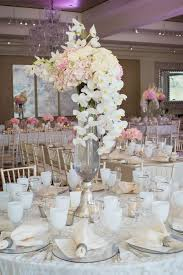 Orchid Decorations For Weddings Tall Cascading Orchid Centerpieces