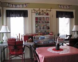 Dining Room Craft Room Combo - contemporary home design eclectic home office current work craft