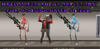 Skeletons For Halloween by Tf2 Sniper Cosmetic Skin Halloween Event Skeletons For Voodoo